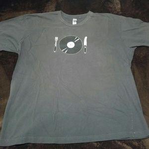 "Vintage XL American Apparel ""vinyl eater"" t-shirt"